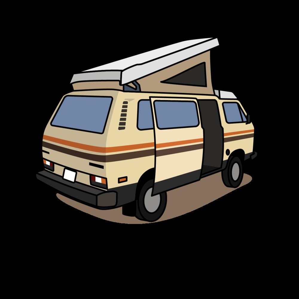 Minivan clipart land transportation. Van life colin joseph