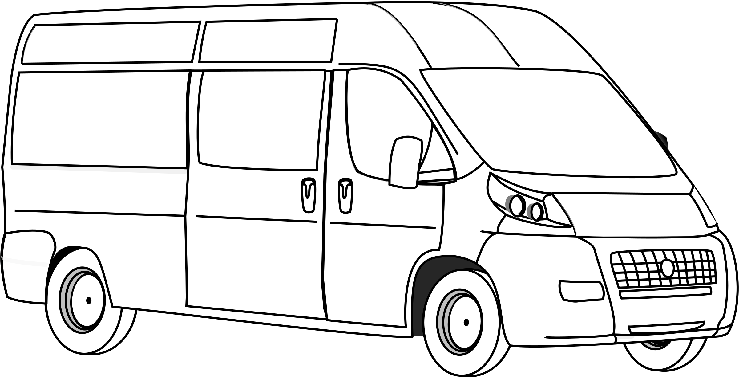 Minivan clipart mail van.  collection of big