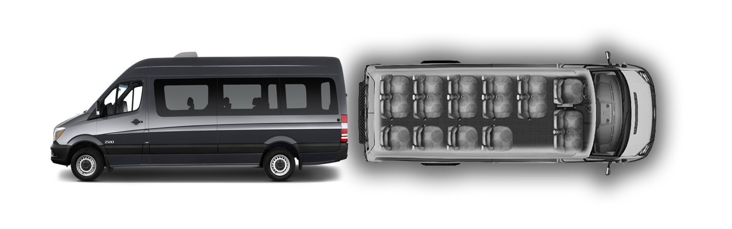 Self drive seater minibus. Minivan clipart mini bus