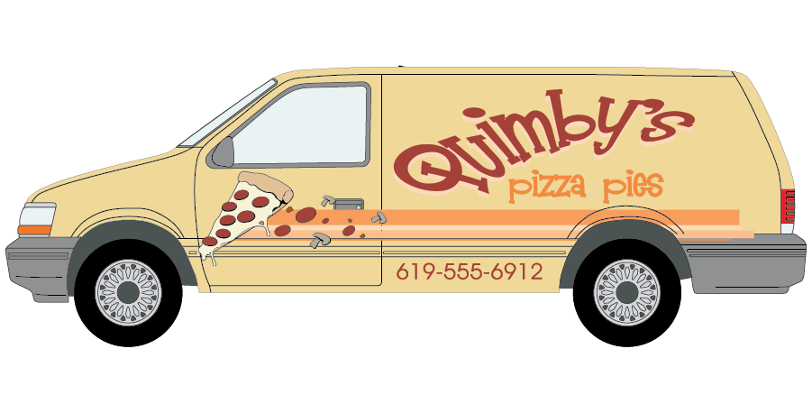 Vip wraps best commercial. Minivan clipart orange