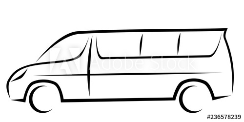 Minivan clipart passenger. Dynamic vector illustration of