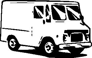 Free service van cliparts. Minivan clipart postal
