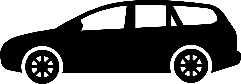 Minivan clipart postal. Car black side view