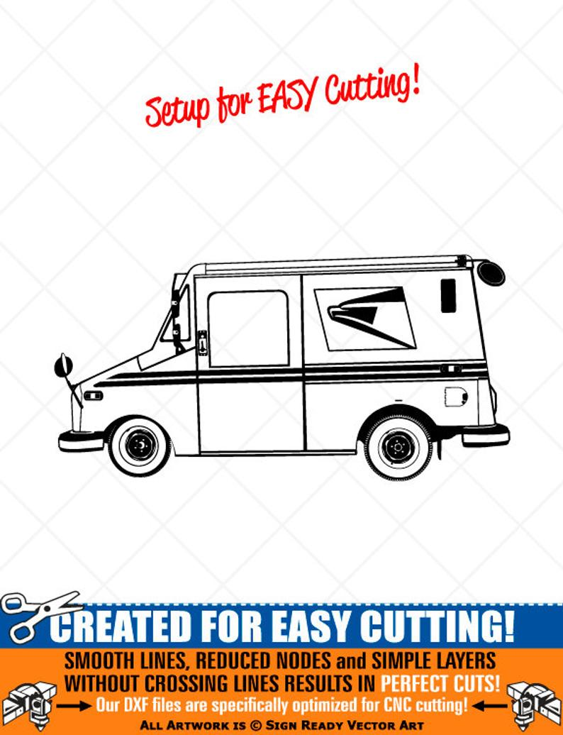 Minivan clipart postal. Us delivery mail truck