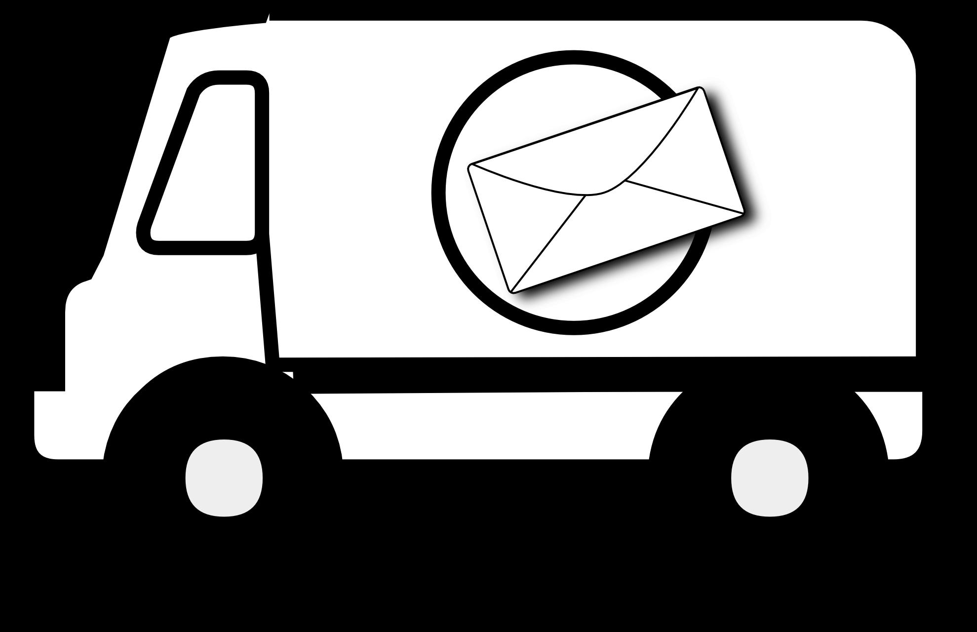 Service van cliparts zone. Minivan clipart postal