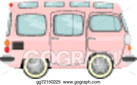 Minivan clipart small bus. Vector illustration gg