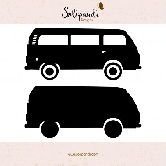 Minivan clipart small bus. Vw camper van minibus
