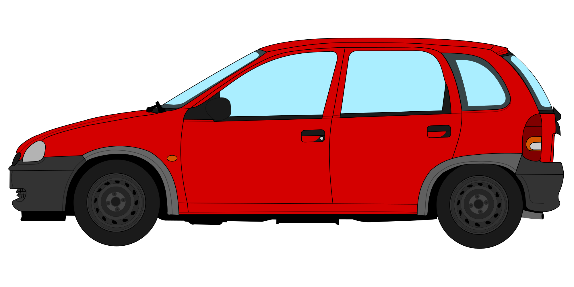 File opel corsa b. Minivan clipart svg