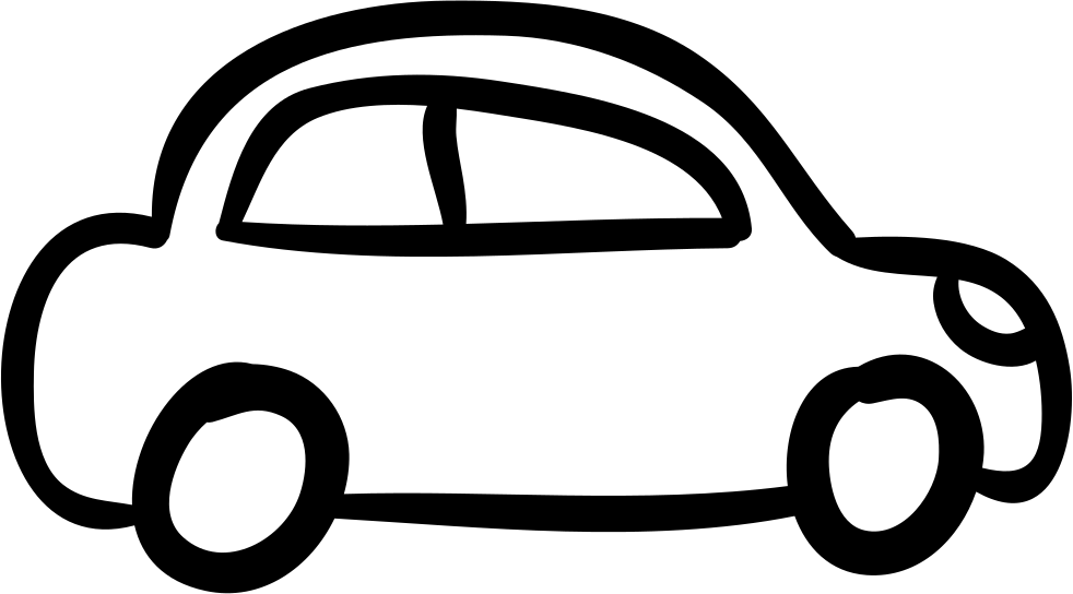 Car outlined vehicle side. Minivan clipart svg