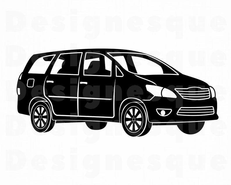 Family car files for. Minivan clipart svg