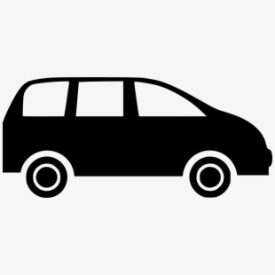 Minivan clipart svg. Black and white transparent