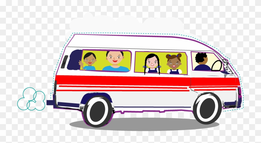 School maxi png transparent. Minivan clipart taxi bus