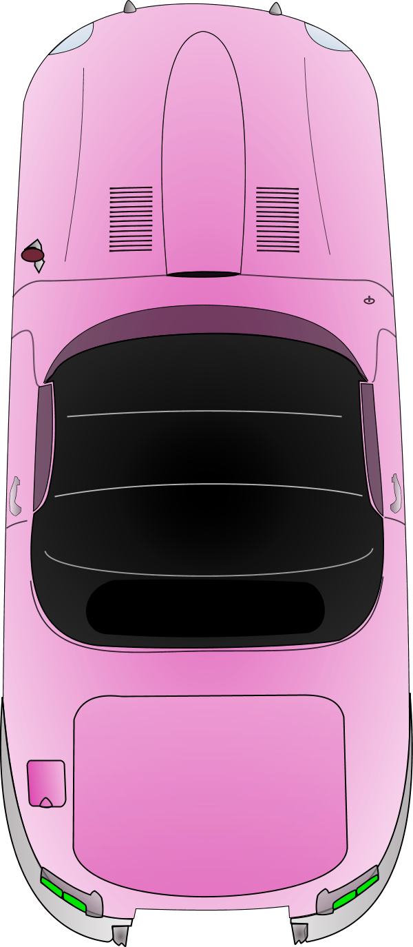 Minivan clipart top view. Car outline perfect with