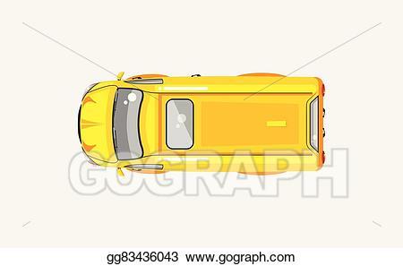 Eps vector stock illustration. Minivan clipart top view