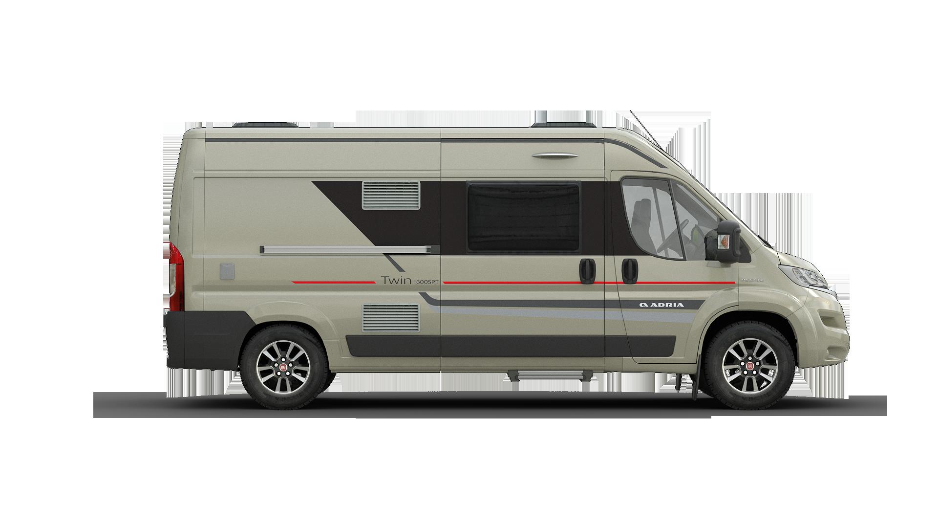 Twin range adria mobil. Minivan clipart van camper