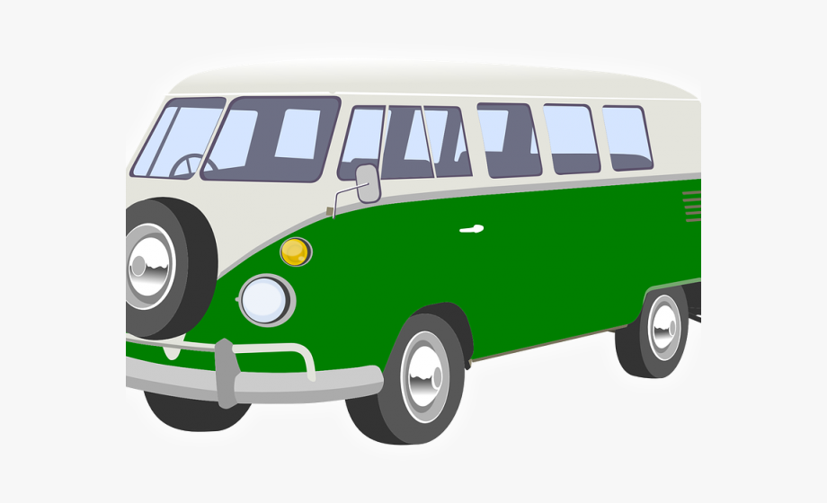 Minivan clipart van camper. Vans back green cliparts