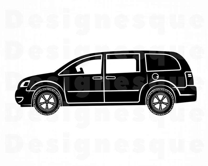 Minivan clipart van family. Svg car files for