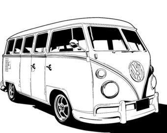 Minivan clipart van volkswagen. Vw clip art google