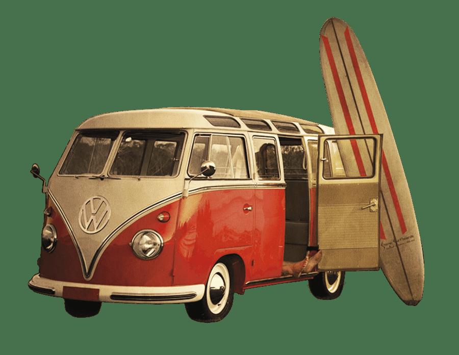 Volkswagen camper and surf. Minivan clipart vintage van vw