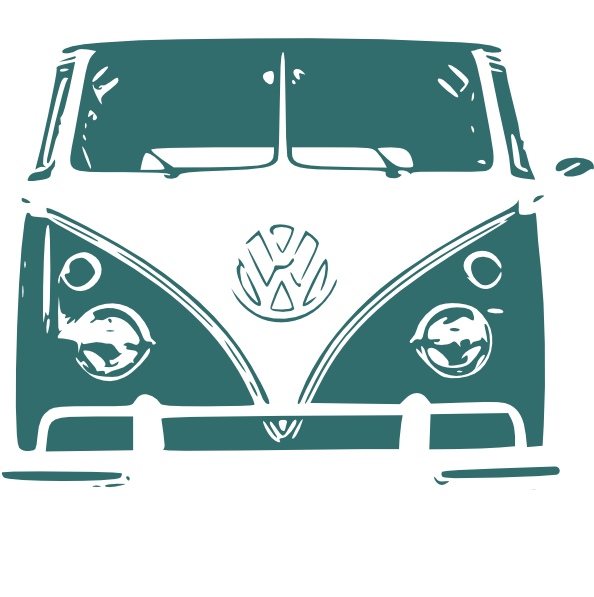 Camper clip art at. Minivan clipart vintage van vw