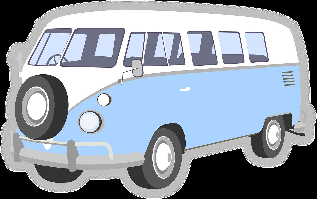 Volkswagen bus minibus png. Minivan clipart vintage van vw