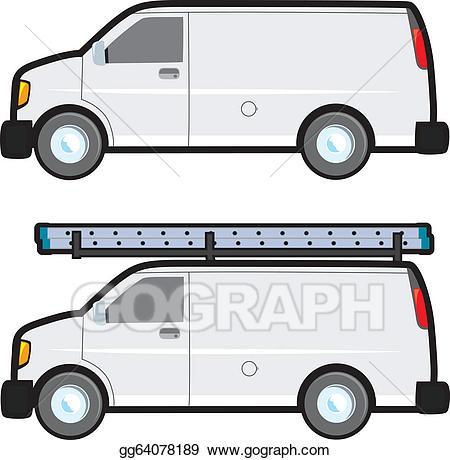 Vector stock clip art. Minivan clipart work van