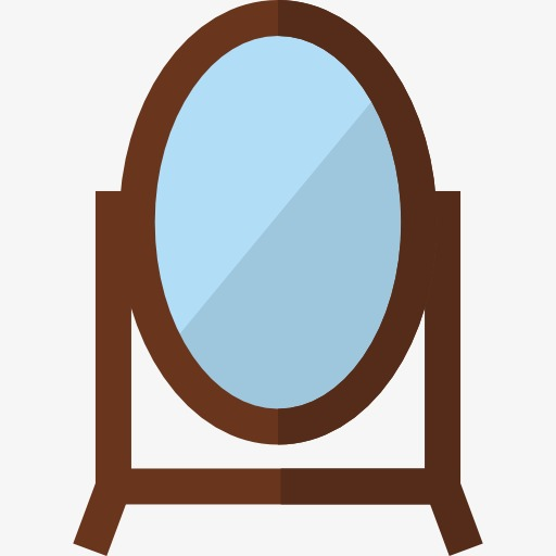 Cartoon png image and. Mirror clipart