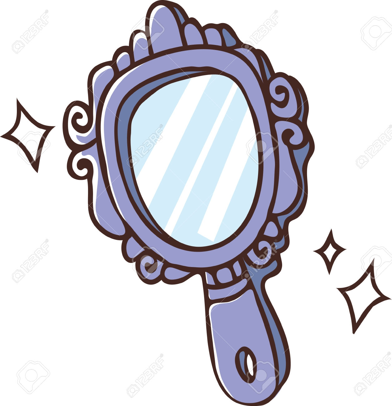 Unique design digital collection. Mirror clipart