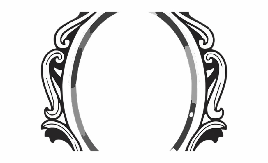 Mirror clipart baroque. Frame cliparts black and