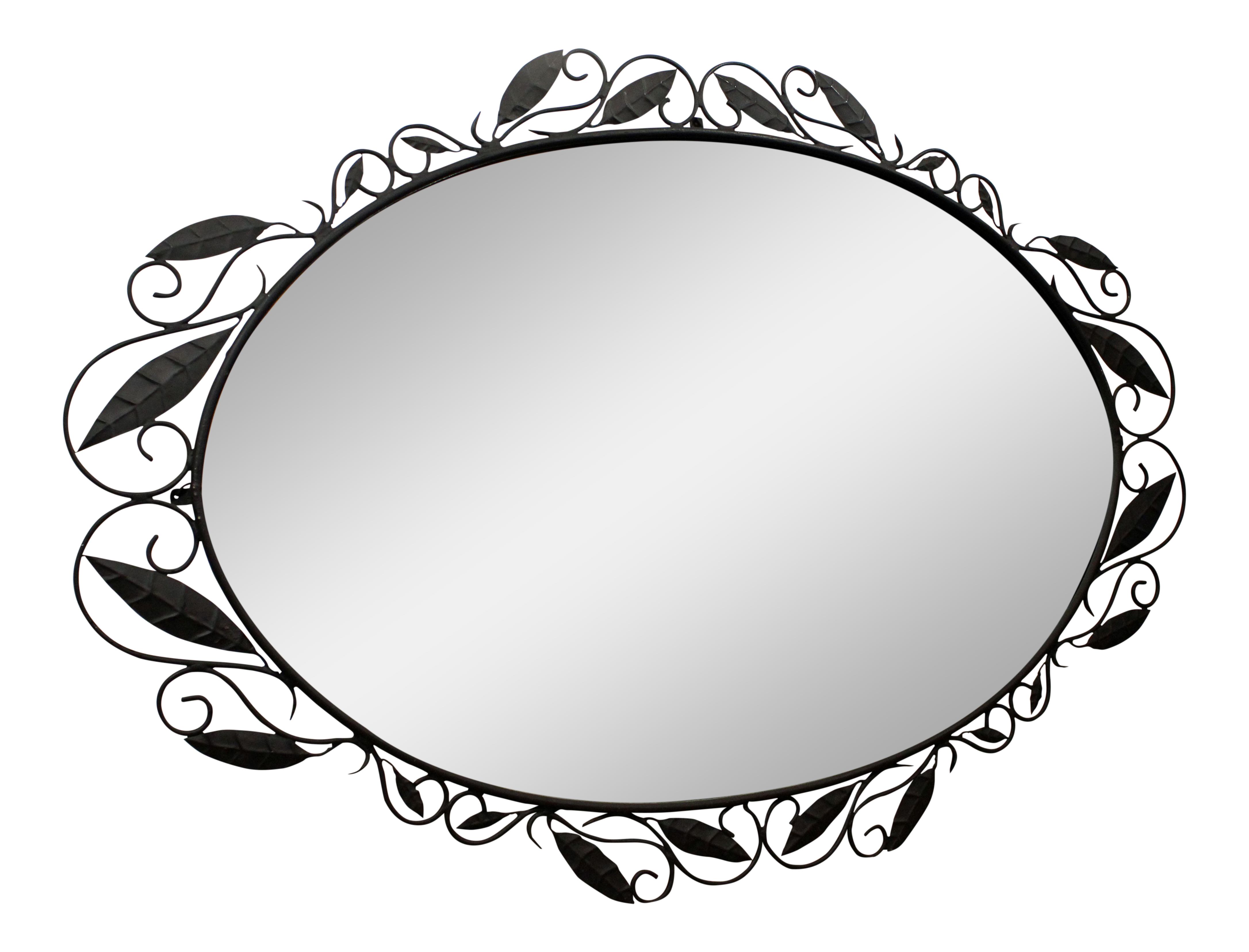 Mirror clipart bathroom mirror. Large oval oversized italian