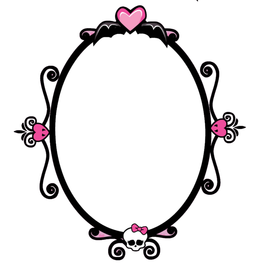 Png monster high by. Mirror clipart circle mirror