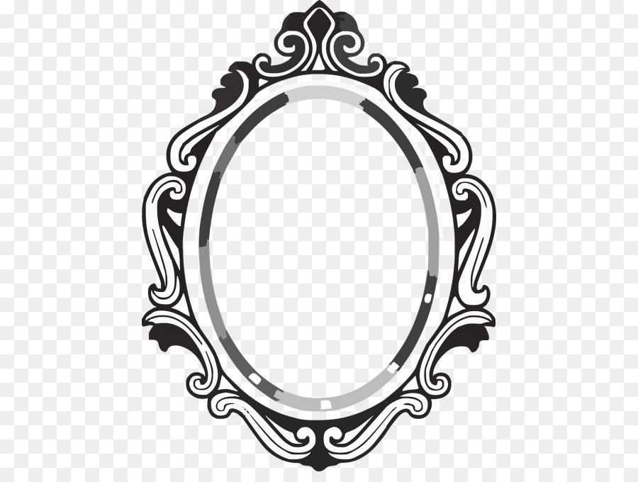 Black and white frame. Mirror clipart circle mirror