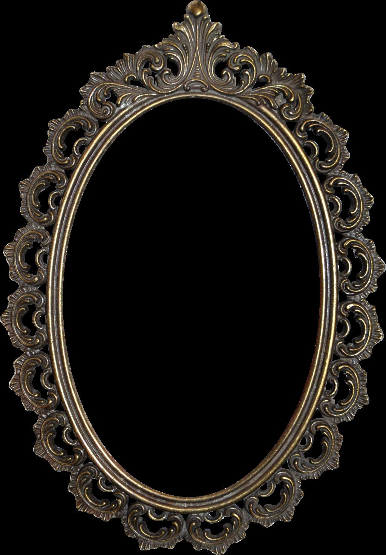 Baroque frame png. Vintage mirror