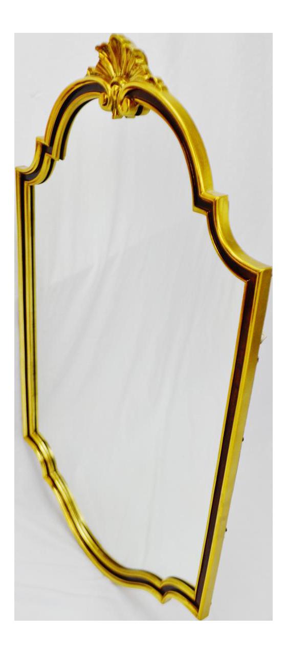 Mirror clipart gold mirror. Large vintage carolina corporation