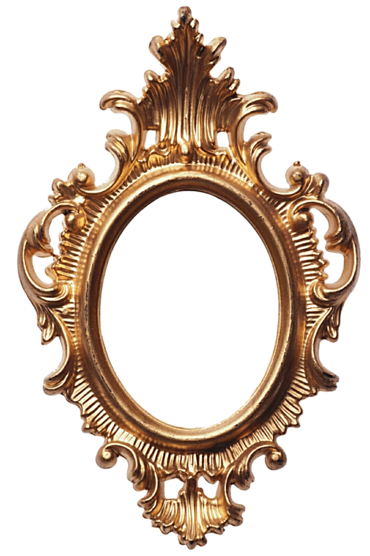Mirror clipart gold mirror. On the wall by