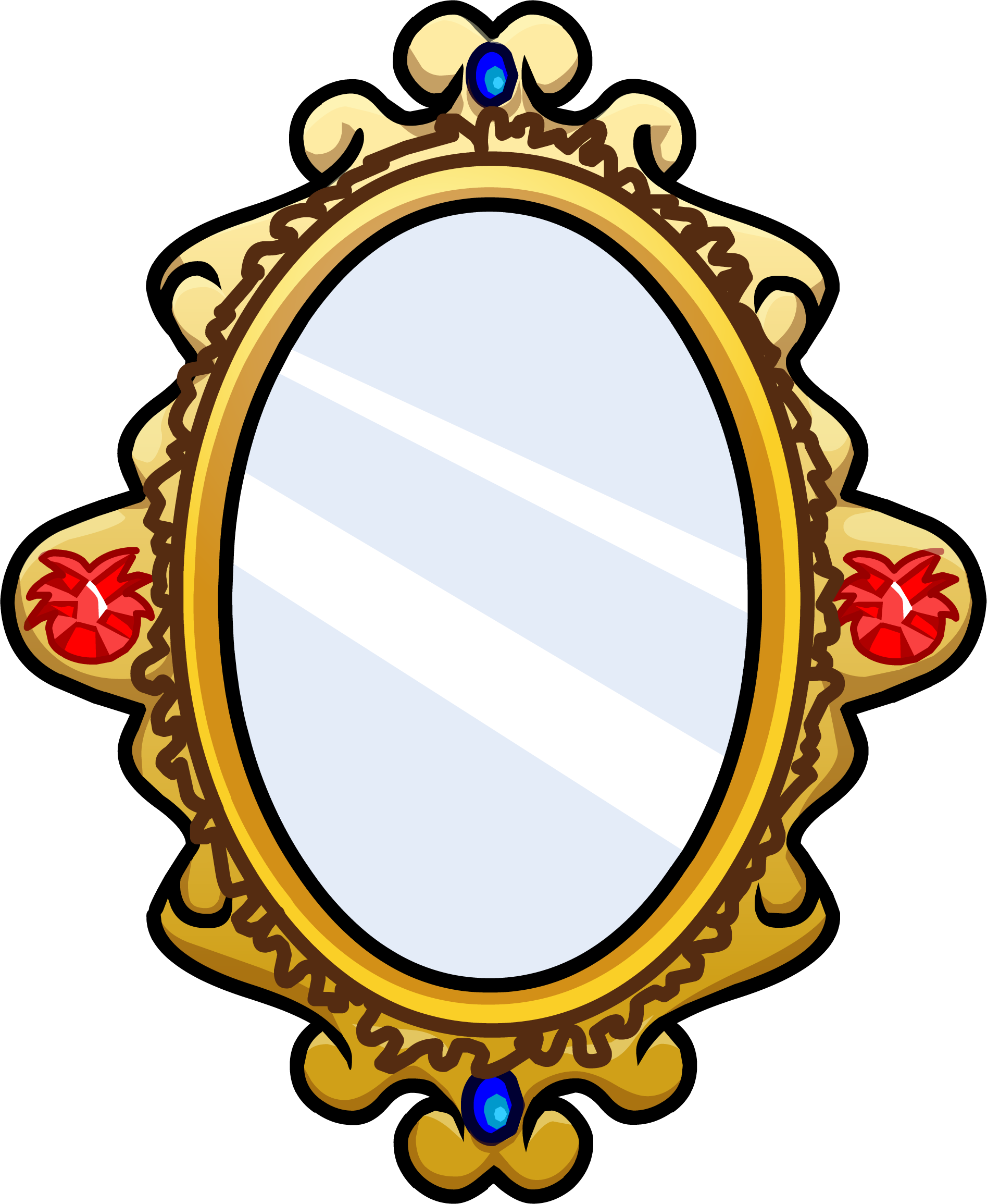 Ornate club penguin wiki. Mirror clipart gold mirror