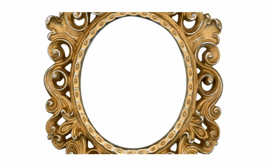 Gold frame png . Mirror clipart golden mirror