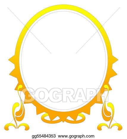 Mirror clipart golden mirror. Stock illustration gold frame