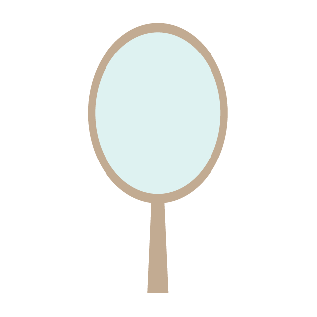 Hand free material picture. Mirror clipart illustration