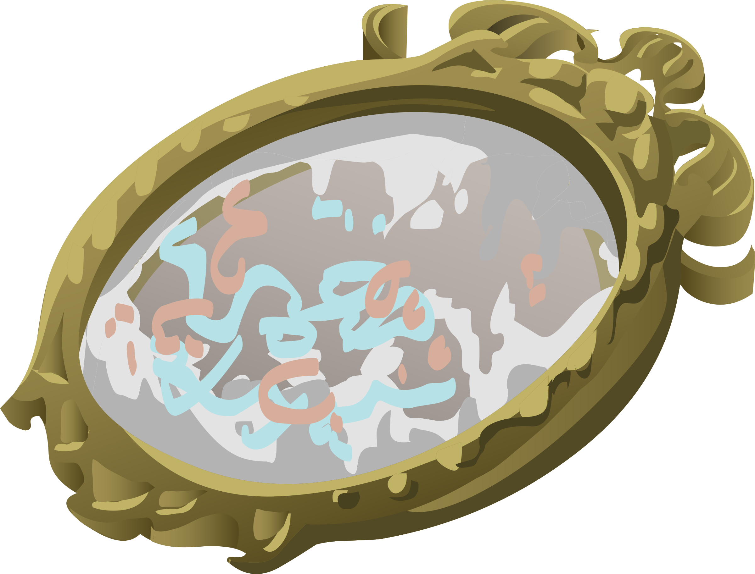 Mirror clipart illustration. Artifact with scribbles big