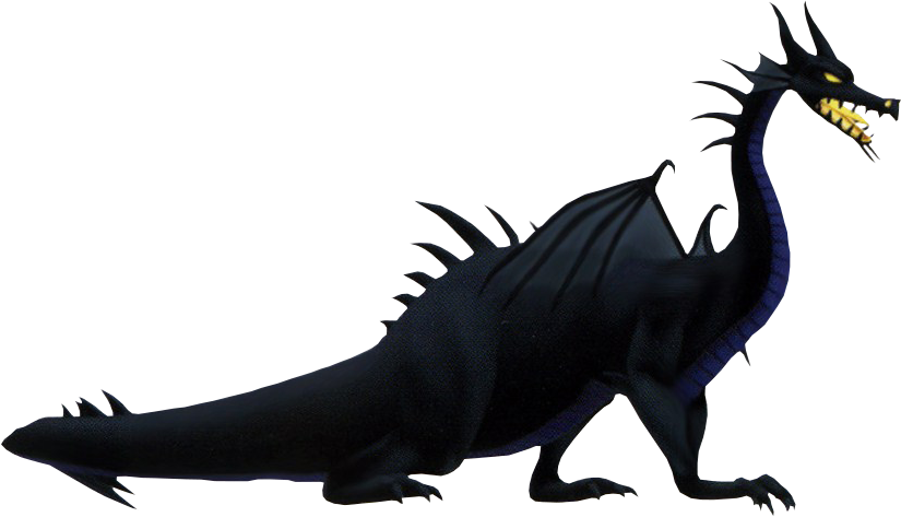 Image dragon form kh. Mirror clipart maleficent