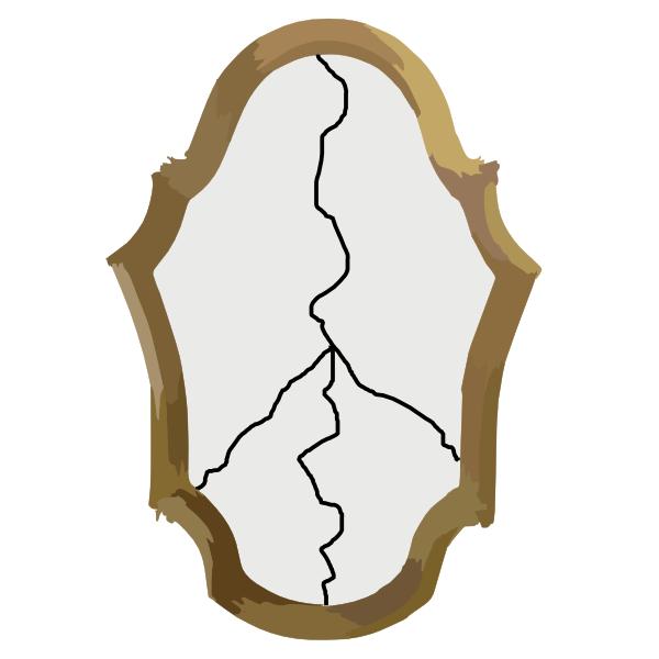 Mirror clipart mirror crack. Hand cartoon graphics font