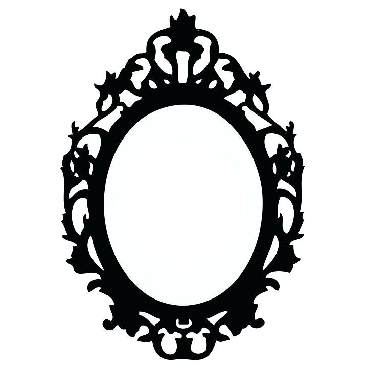 Vintage drawing free download. Mirror clipart old fashioned