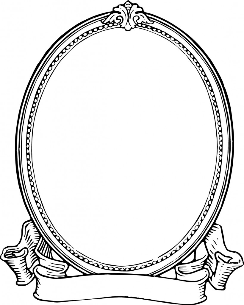Mirror clipart old fashioned. Pencil and in color