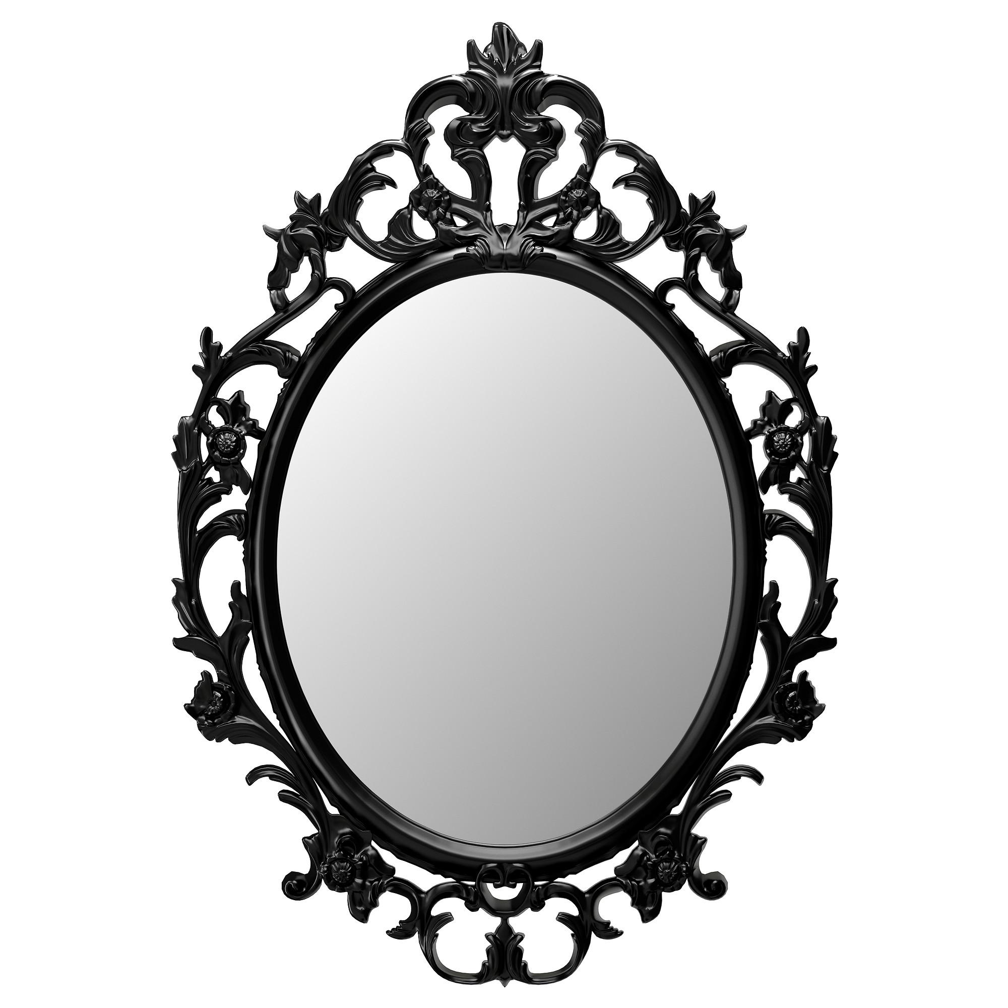 With black design x. Mirror clipart ornamental