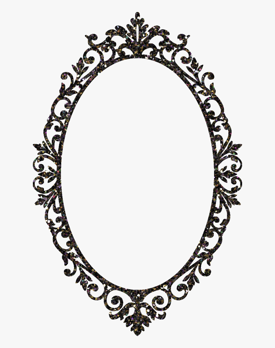 Picture frame stock photography. Mirror clipart ornamental