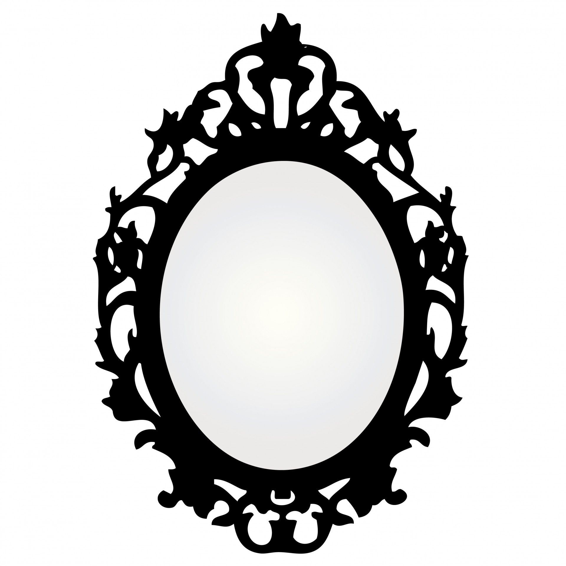 Mirror clipart ornate. With frame on the
