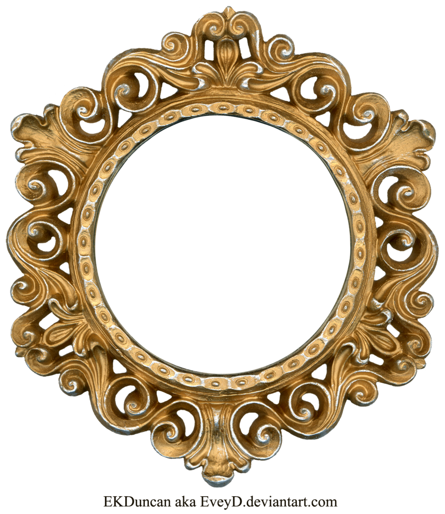 Mirror clipart ornate. Gold and silver round