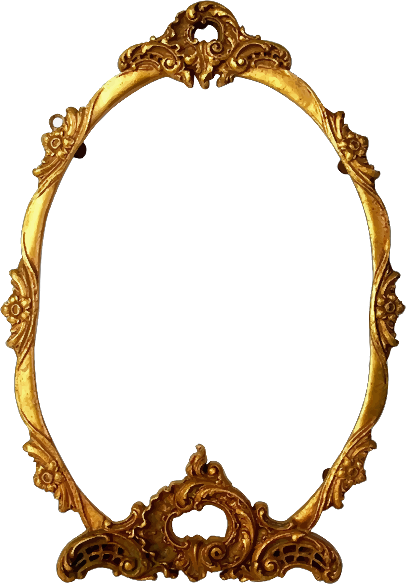 Frame big image png. Mirror clipart ornate