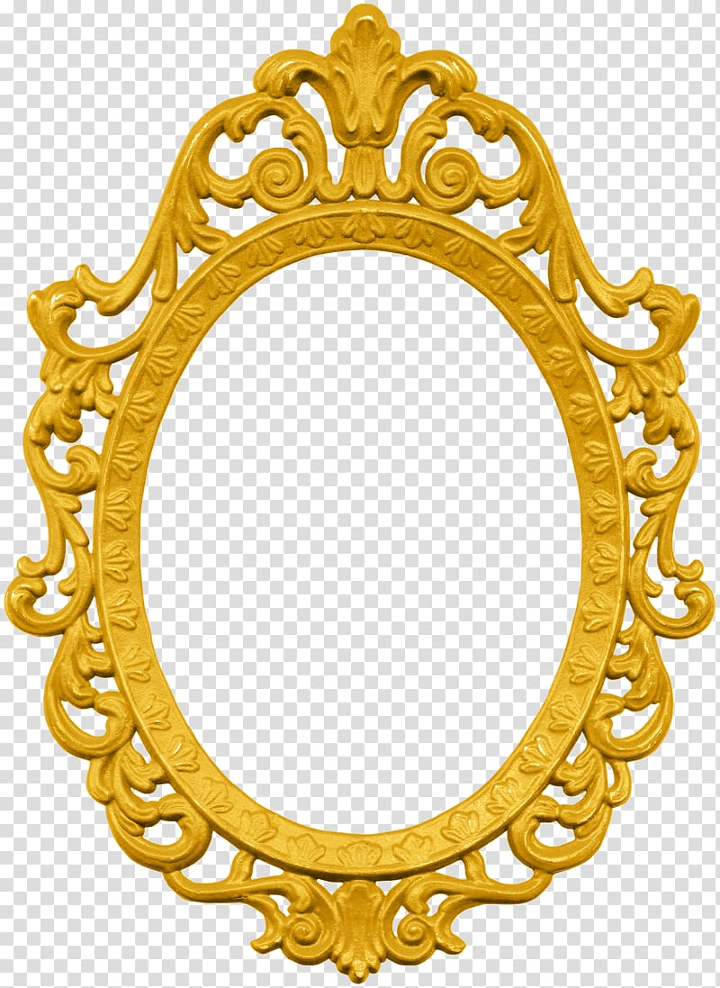 Oval frame illustration frames. Mirror clipart ornate